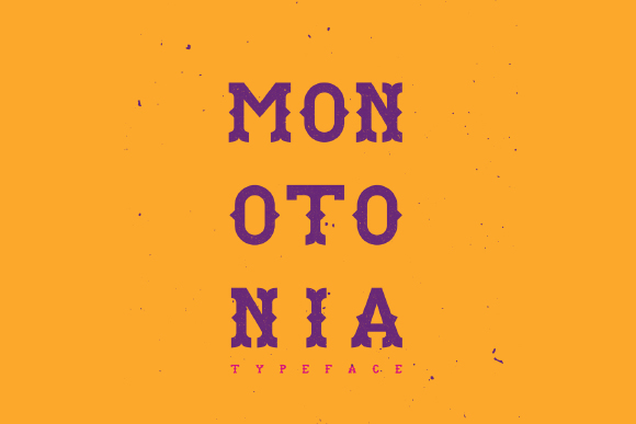 Monotonia Display Free Typeface
