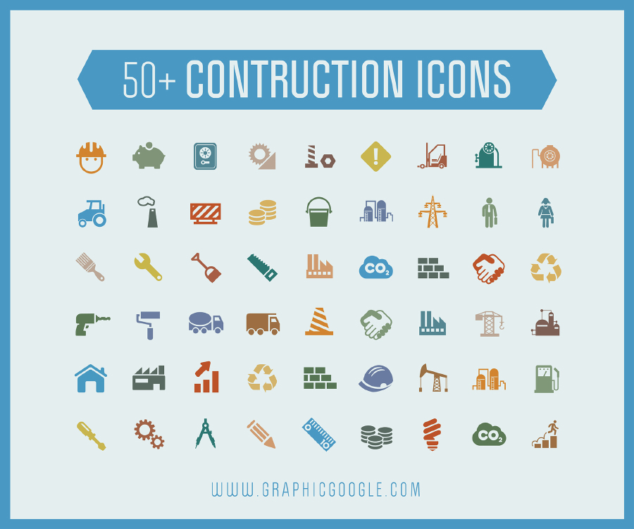 Free 50 Construction Icons