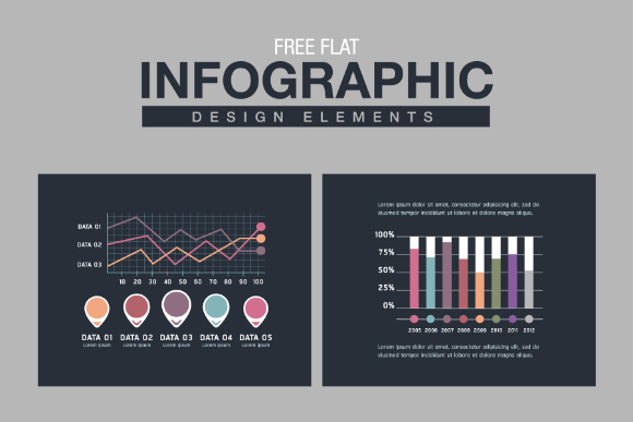 Free Flat Infographic Design Element