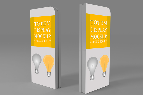 Free Totem Display PSD Mockup