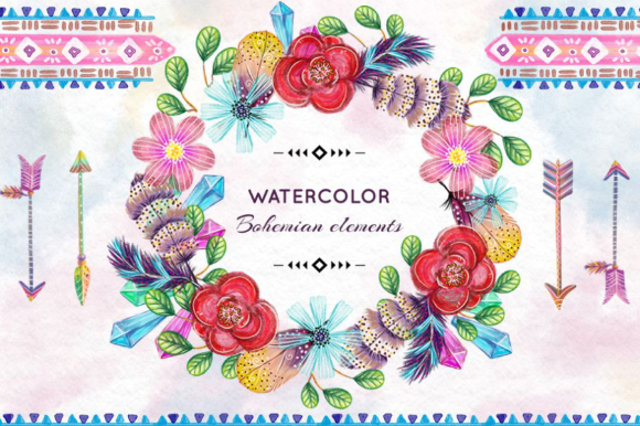 Free Watercolor Bohemian Frame