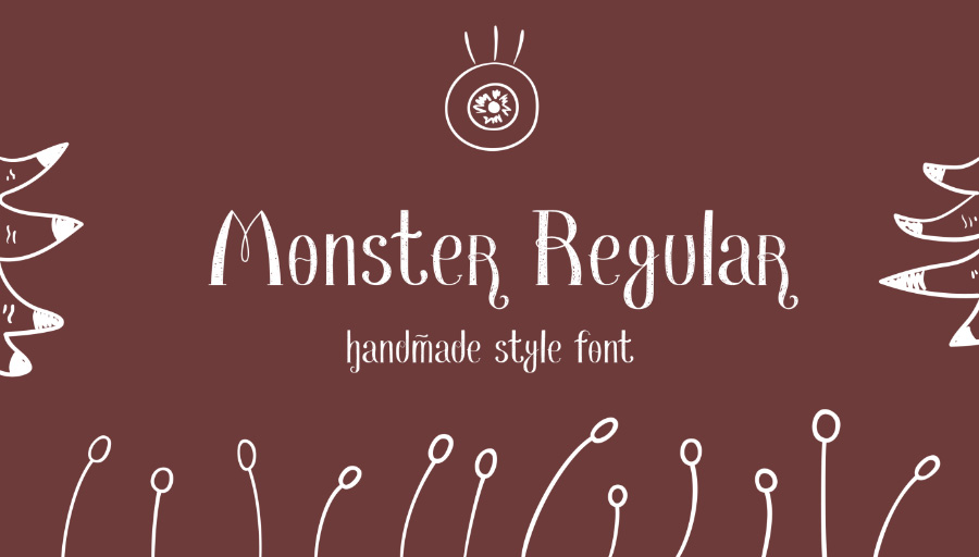 Monster Regular Free Font