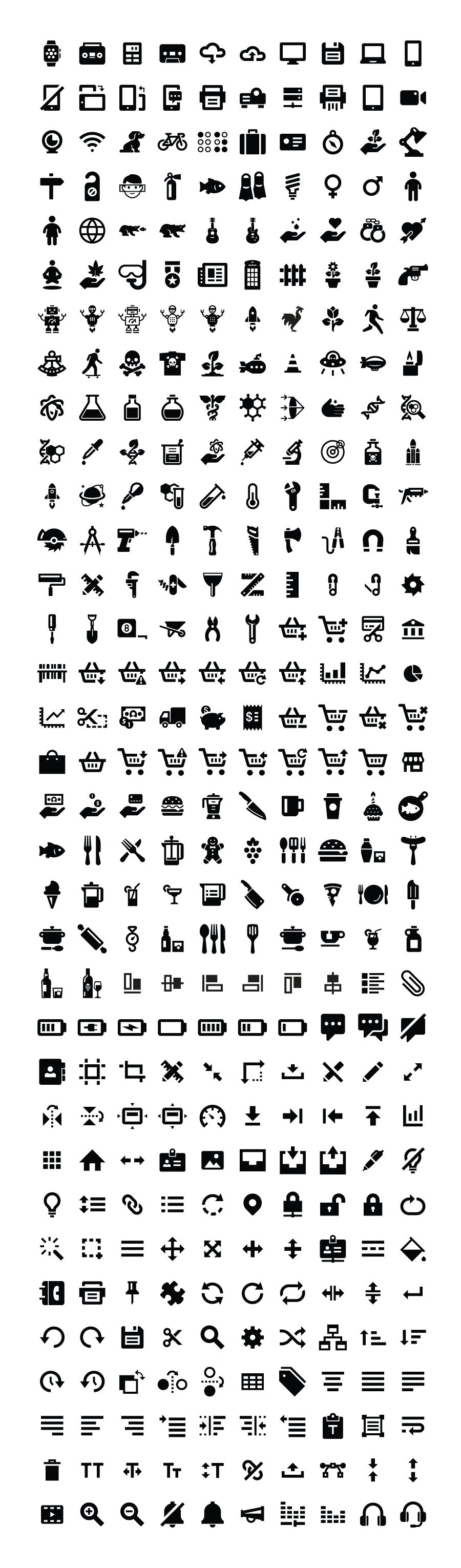 650 Free Glyph Icon Pack