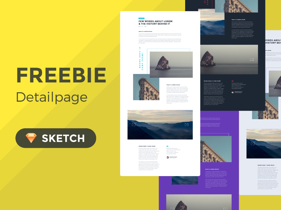Free Concept Detail Page in Sketch
