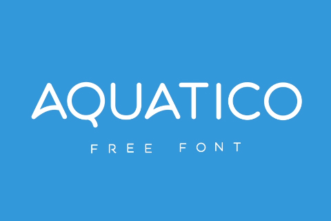 Aquatico Free Animated Typeface