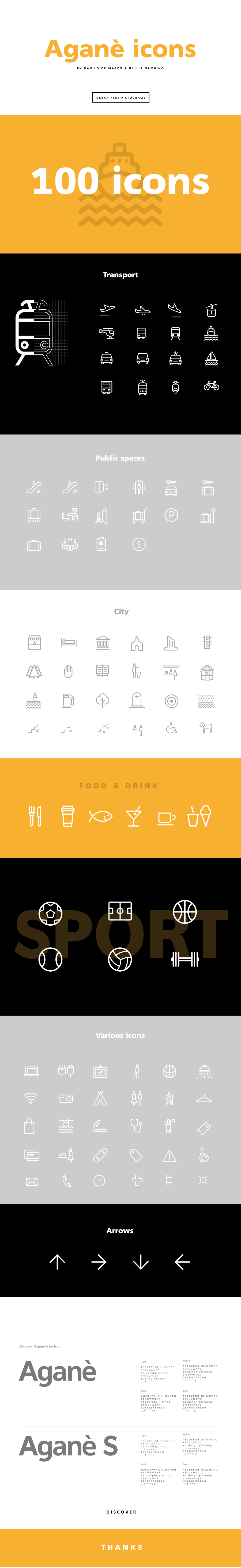 Aganè Free Vector Icon Pack