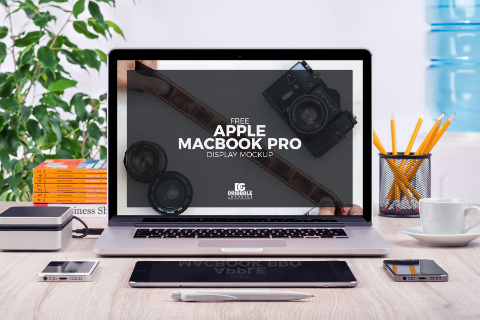 Macbook Pro Display Mockup