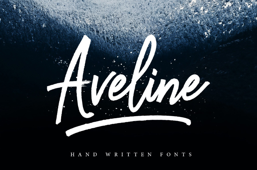 Aveline Brush Script Free Version