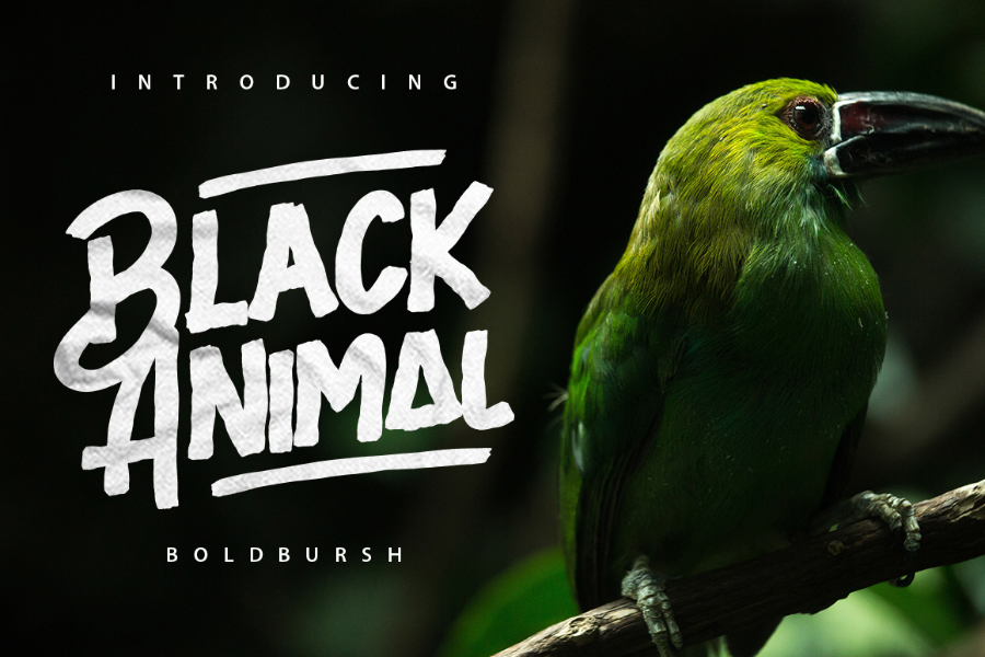 Black Animal Typeface Free Demo