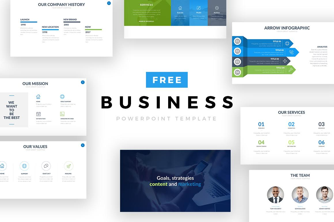 free business powerpoint template free design resources