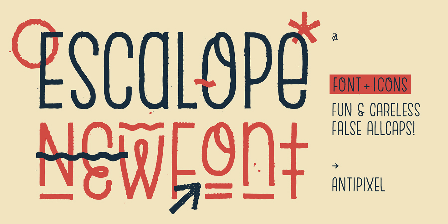 Escalope Free Typeface Family