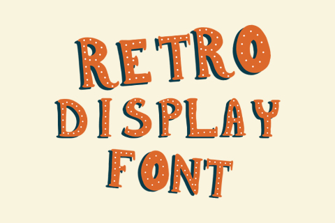 Retro Display Free Typeface