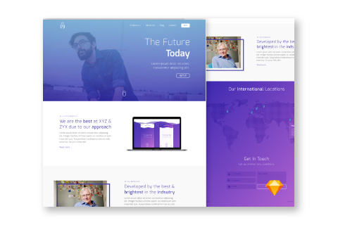 Simple Lander Free Sketch Template