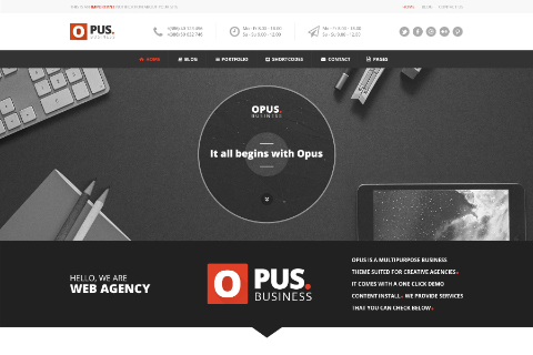 Opus Free PSD Template