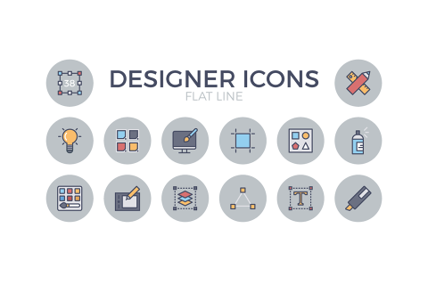 Exclusive Designer Flat Icon Pack