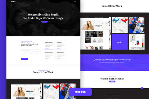 SixtyNine Agency Free PSD Template