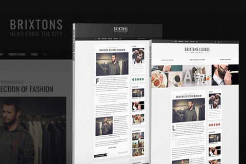 Brixton Free PSD Template