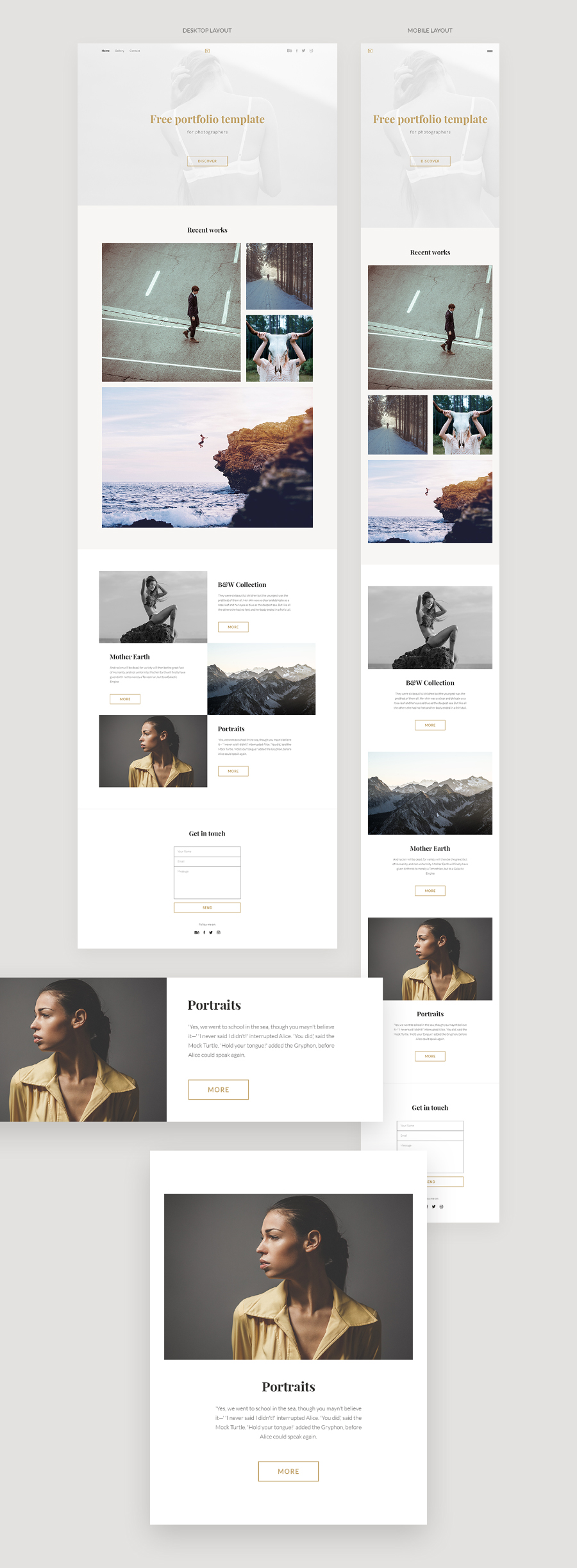 free photography portfolio template pdf