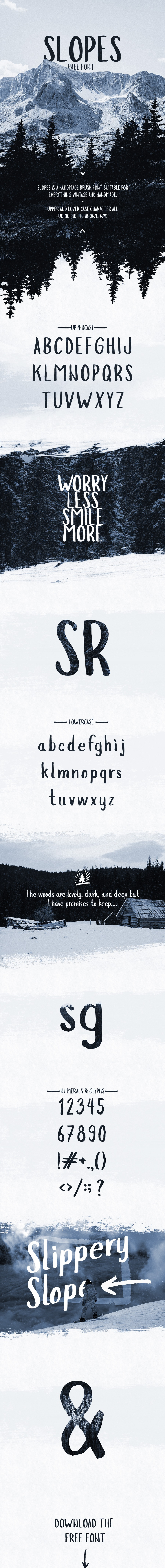 Slopes Free Display Typeface