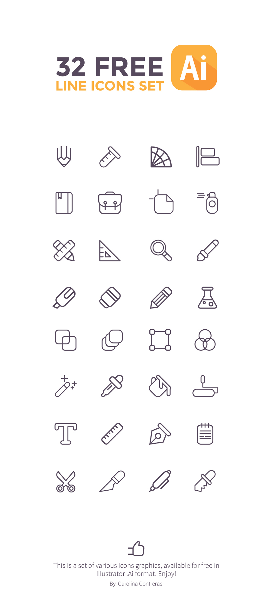 32 Free Vector Line Icons