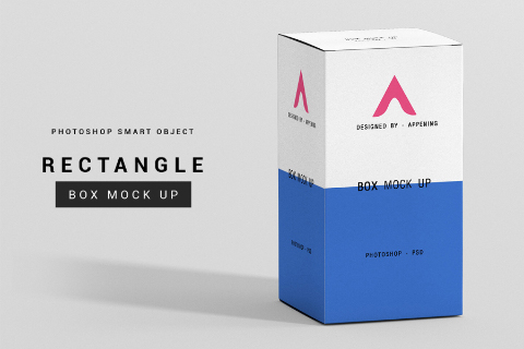 Free Rectangle Box Mockup