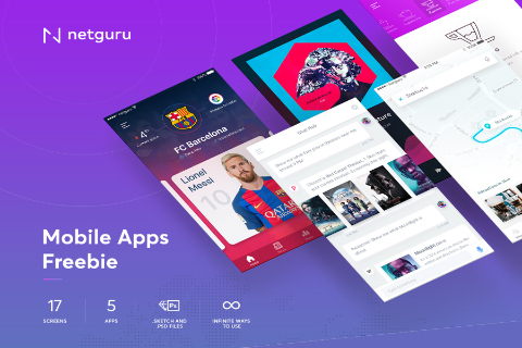 5 Free Mobile App UI Kit