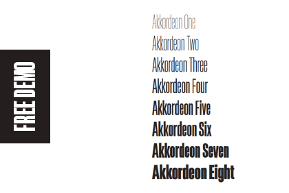Akkordeon Font Family Demo