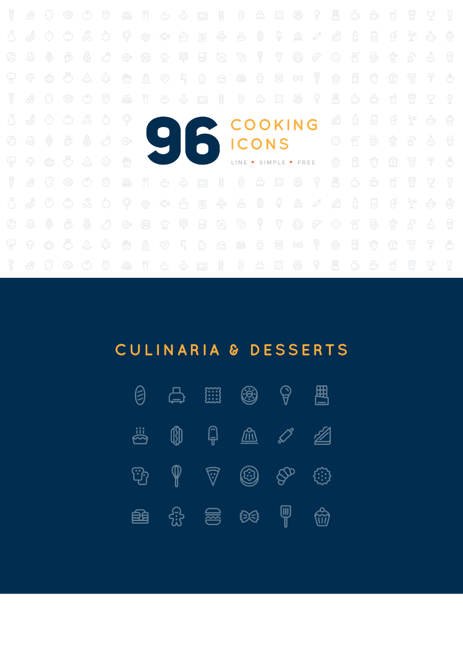 96 Free Vector Cooking Icons