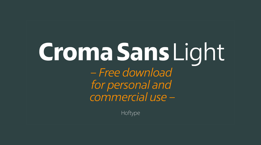 Croma Sans Light Free Typeface