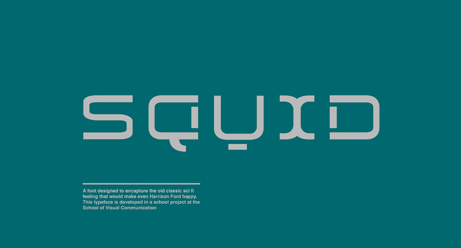 Squid Display Free Typeface