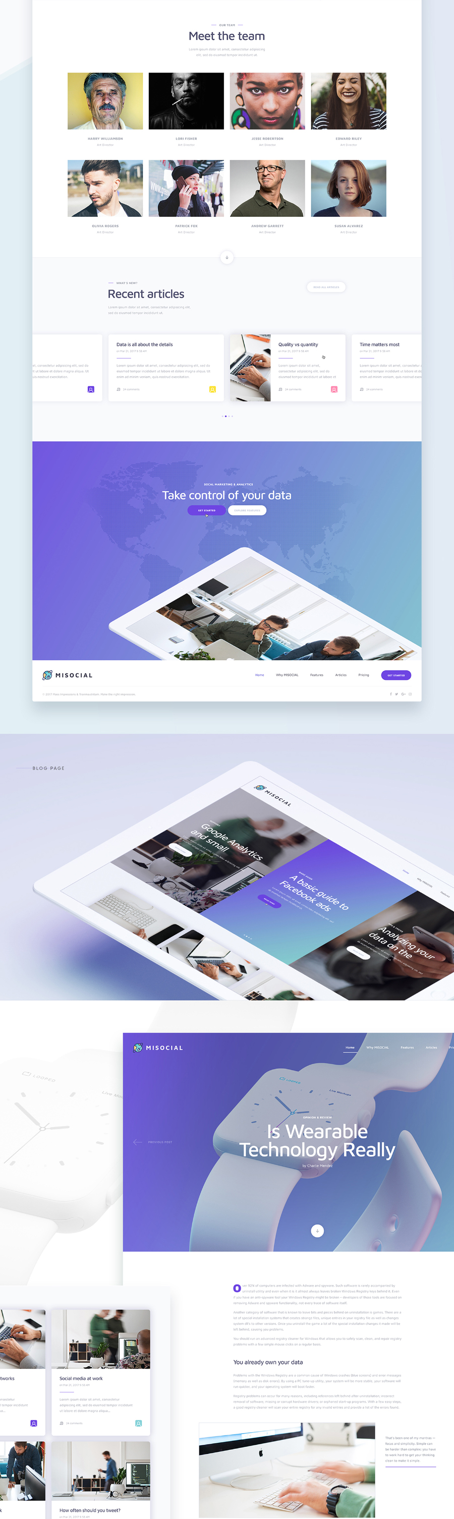 Misocial Free PSD Template