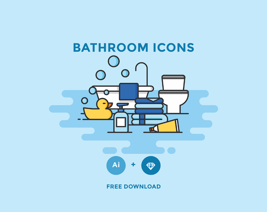 Free Vector Bathroom Icons