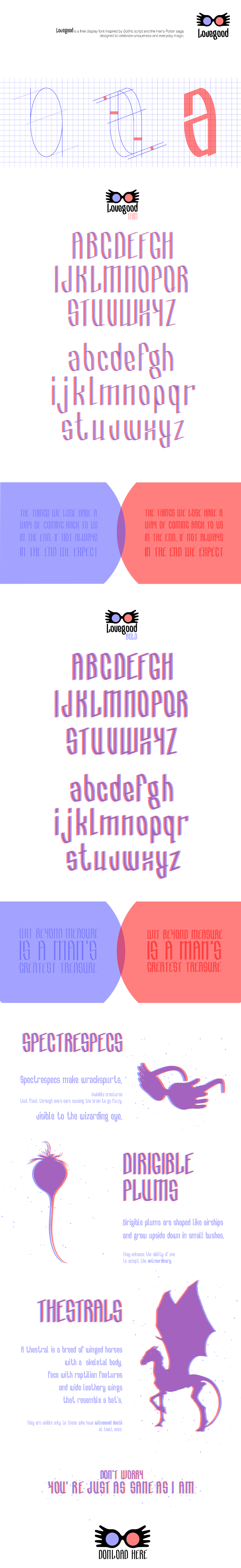 Lovegood Display Free Font