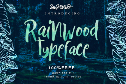Rainwood Brush Free Typeface