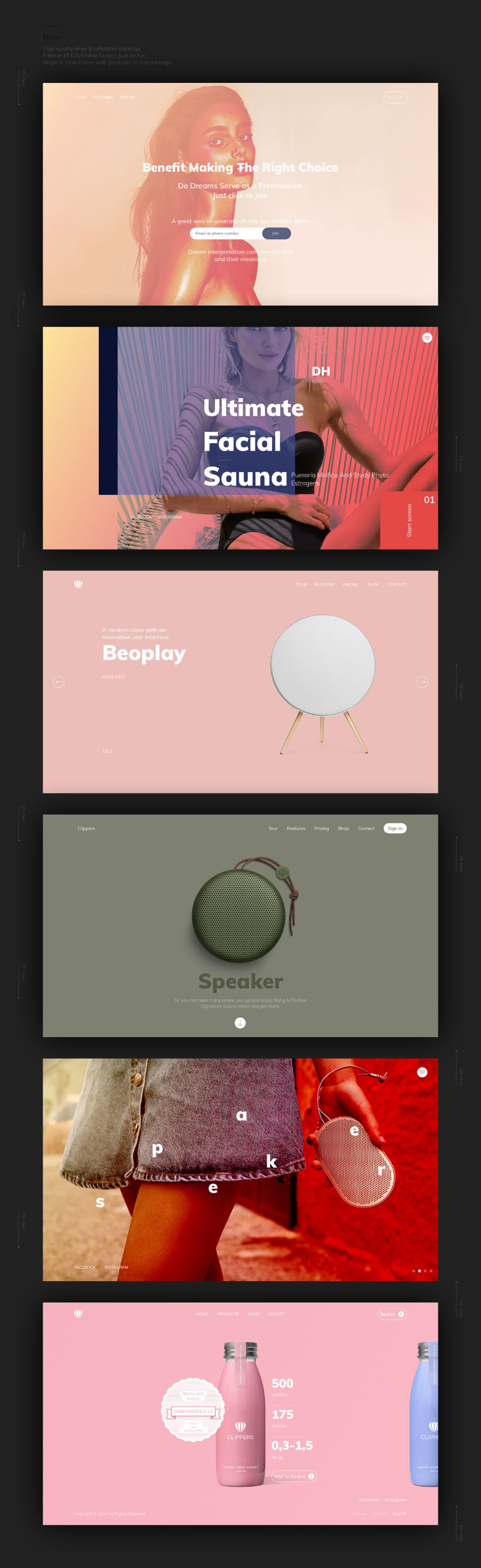 Clippers UI Kit Free Sample