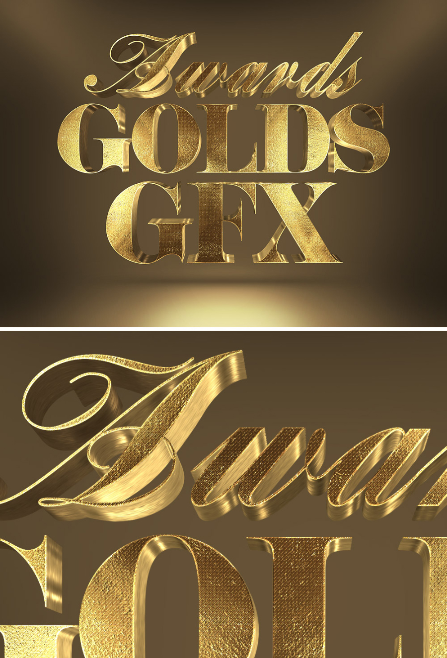 Free 3d gold text effect free design resources for Architect 3d gold