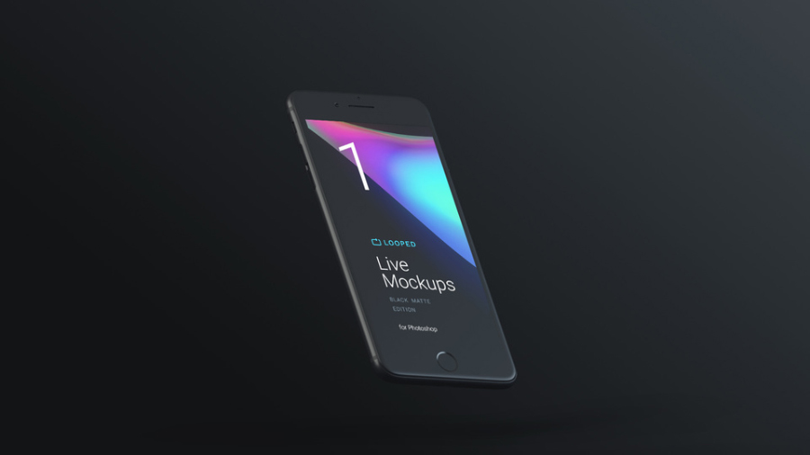 8 Free Black Matte Devices Mockups