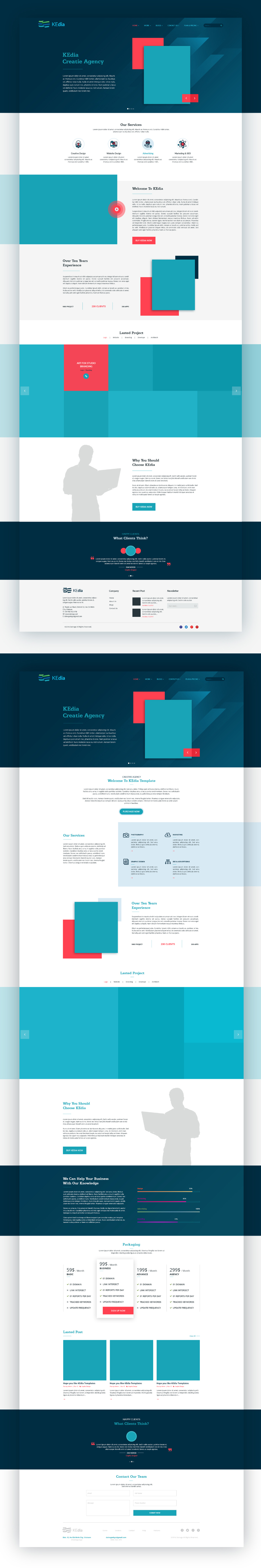 Kedia Website Free PSD Template