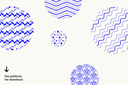 Free Five Vector Patterns