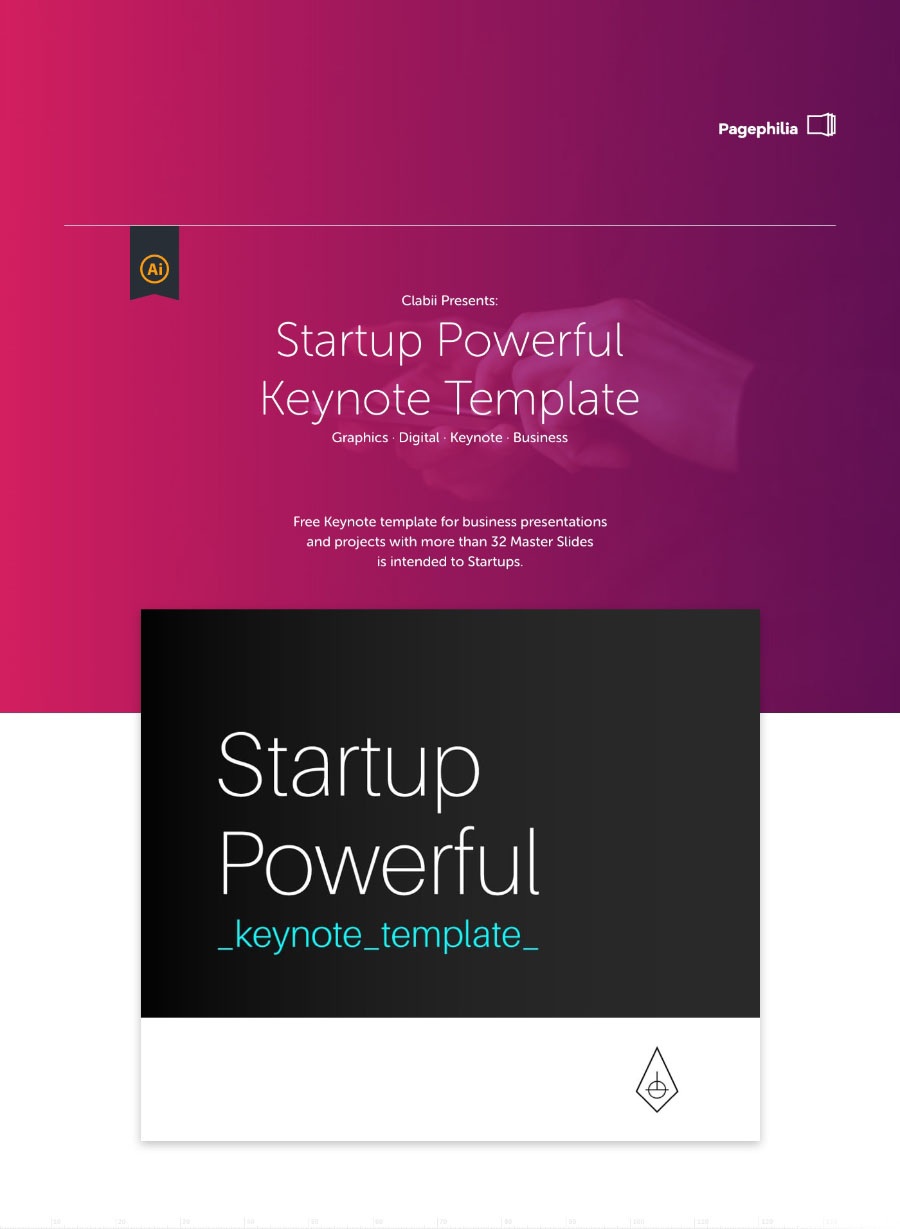 startup powerful keynote template free design resources