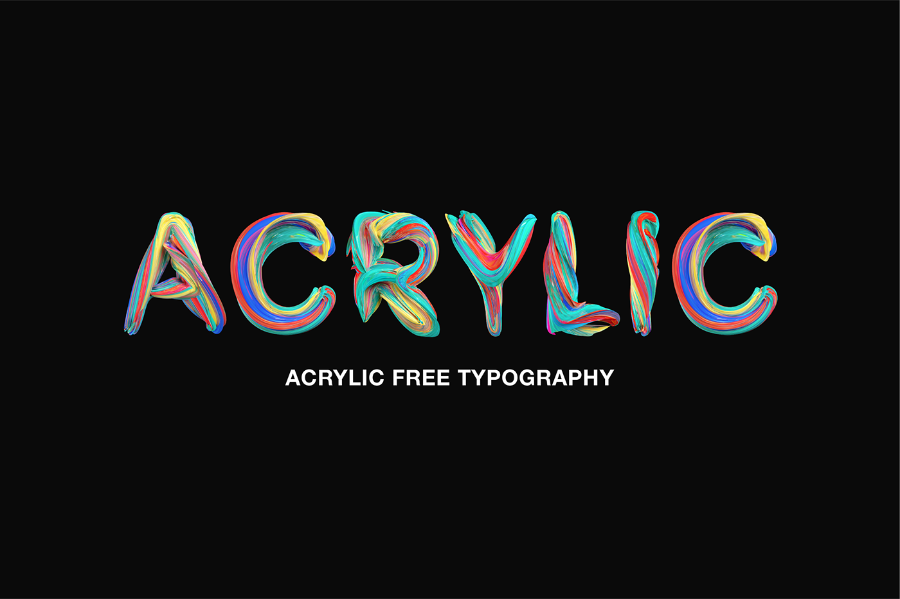 Acrylic Free Colorful Typography