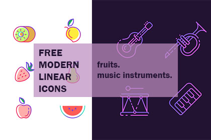 Free Modern Linear Icon Pack