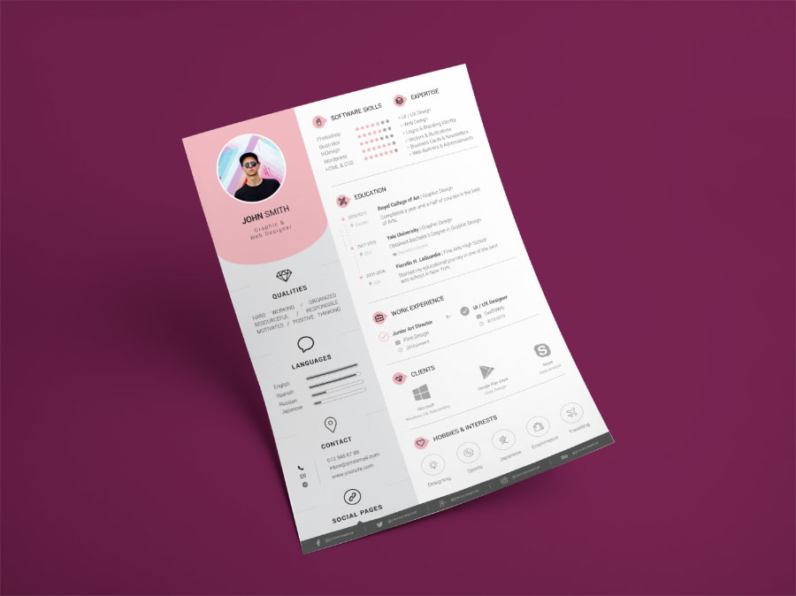 Perfect Balance Resume Template