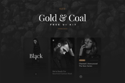 Gold & Coal UI Kit Free Demo