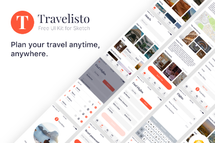 Travelisto Free Sketch UI Kit