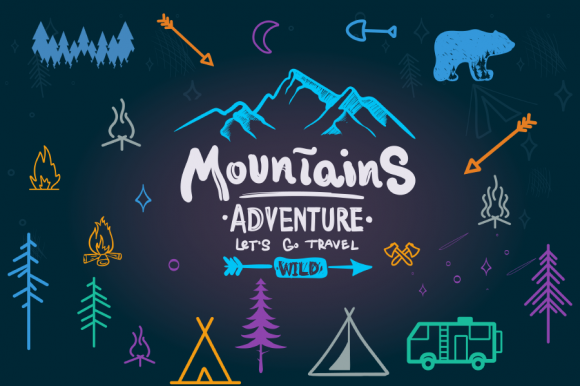 Camping Vector Icon Pack