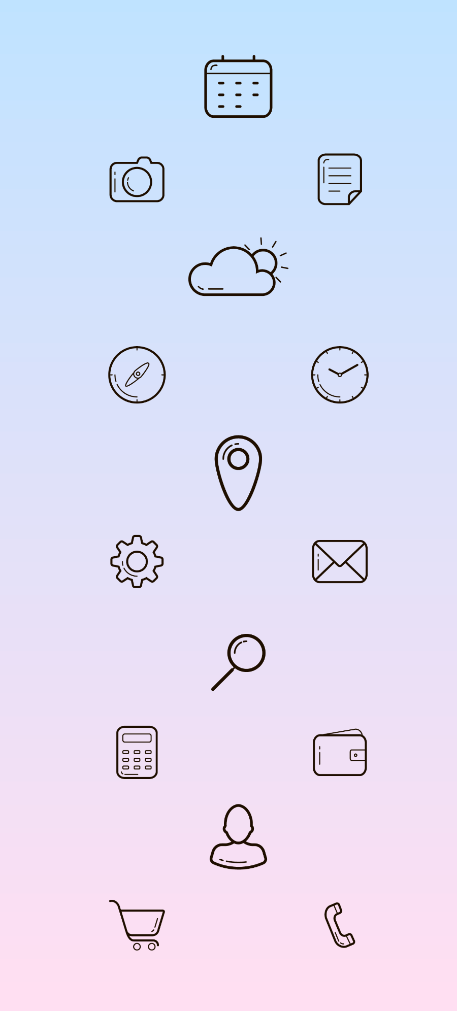 Free UI Basic Linear Icon Pack