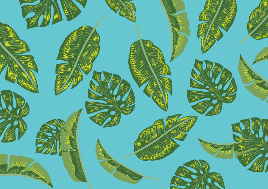 Free Tropical Palm Leaves Vector