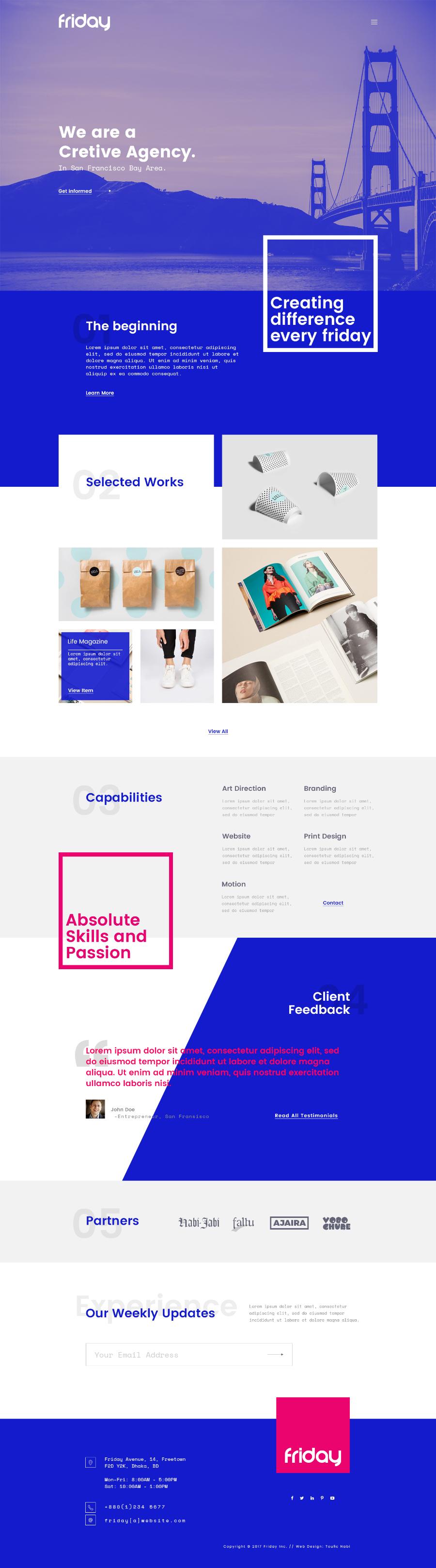 Friday Free PSD Website Template