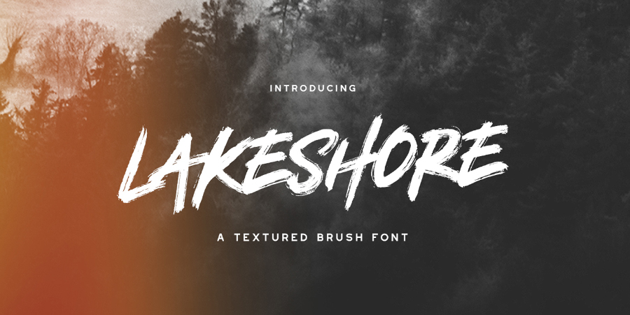 Lakeshore Brush Free Font